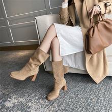 Новинка женские замшевые ботинки в стиле ретро осенне зимние