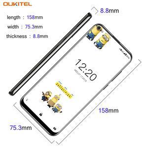Image 4 - OUKITEL C17 Android 9.0 Smartphone 6.35 Face ID Fingerprint 4G Mobile Phone Triple Camera MT6763 Octa Core 3GB 16GB 3900mAh