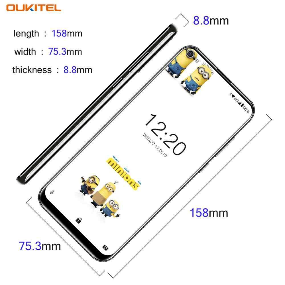 """OUKITEL C17 Android 9,0 Smartphone 6,35 """"identificación facial huella dactilar 4G teléfono móvil Triple Cámara MT6763 Octa Core 3GB 16GB 3900mAh"""
