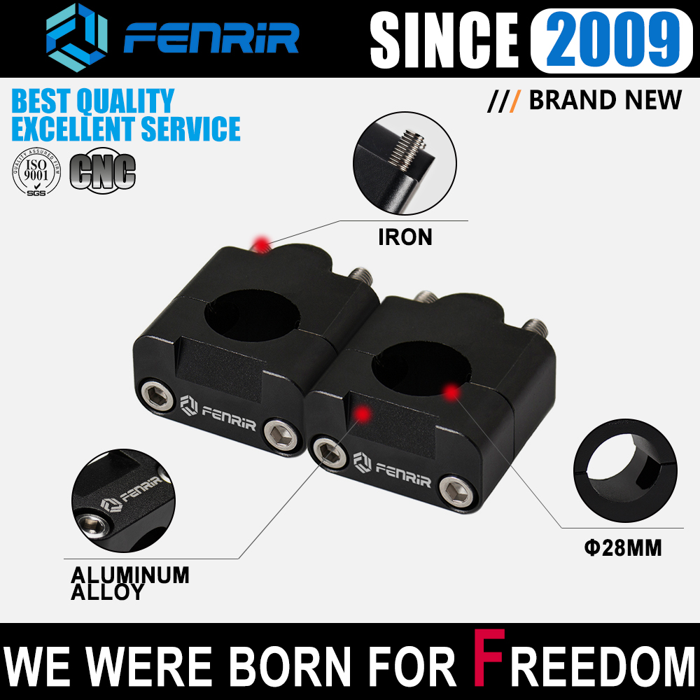 FENRIR Motorcycle Fat Bar <font><b>28mm</b></font> <font><b>Handlebar</b></font> <font><b>Riser</b></font> for Honda Msx125 Nc750x GROM Monkey CRF150RB KTM Motocross Bmw Ducati Scrambler image
