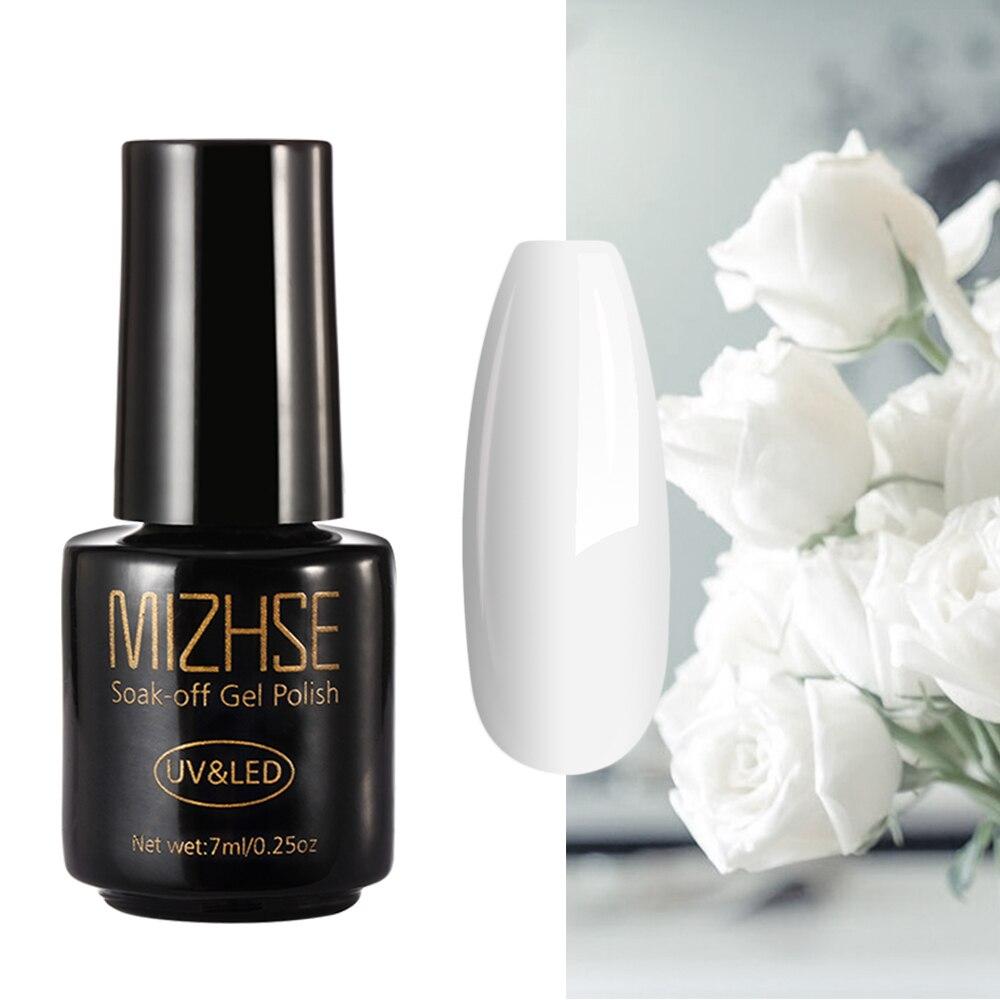 MIZHSE маникюр черный белый гель лак для ногтей уф/светодиодный отмачиваемый французский лак для нейл-арта маникюр Vernis полупостоянный