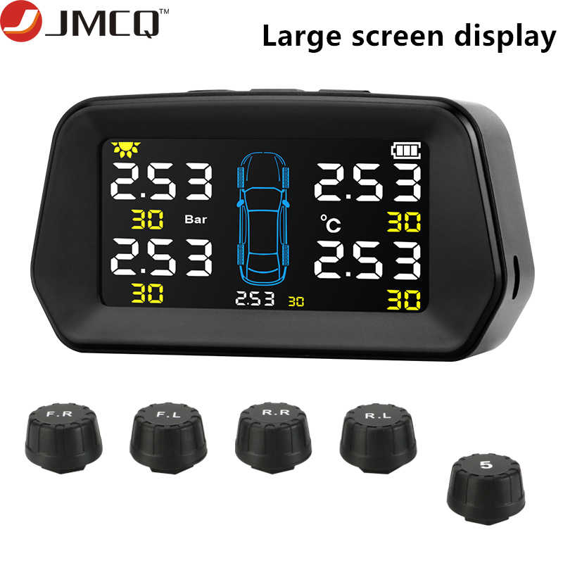 Control TPMS for 6 Tires Tire Pressure Monitor System Monitoring Tpms Sensor Trailer-Alarm Tire Pressure Sensor Reliable Durable Monitoring System Solar Power Auto Security Tyre Pressure