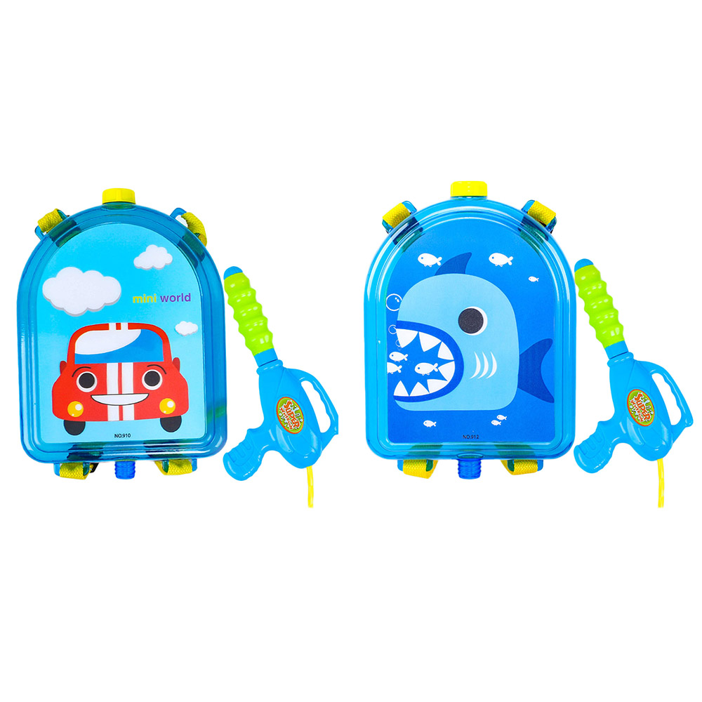 Summer Baby Toys Water Toys Children Backpack Water PVC Beach Spray Pump Water Toys Cartoon Water Toys Backpack
