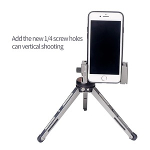 Image 3 - XILETU XJ 8 חצובה ראש סוגר טלפון נייד בעל קליפ עבור טלפון פנס מיקרופון עם פלס וקר נעל הר