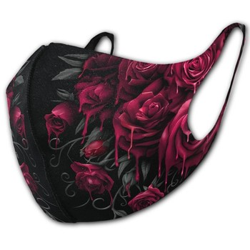 Masks Unisex New Fashion Bloody Rose 3d Print Gothic Punk Mask Skull And Tribal Back Print Sets Off This Eery Design Perfectly image