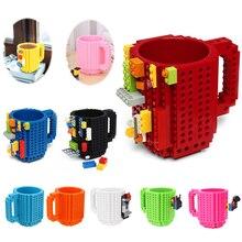 350ML kupa bardak süt kahve su Build On tuğla tipi kupa bardak su tutucu yapı taşları tasarım hediye