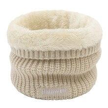 2020 inverno cachecol feminino malha anel pescoço cachecóis grossos lã de pele carta bordado quente ao ar livre esporte masculino gola infinity snood