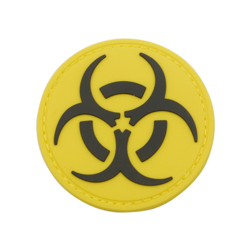 RADIATION SYMBOL PATCH ROUTE 66 SIGN PATCH UFO/'S BIOHAZARD EPIDEMIC