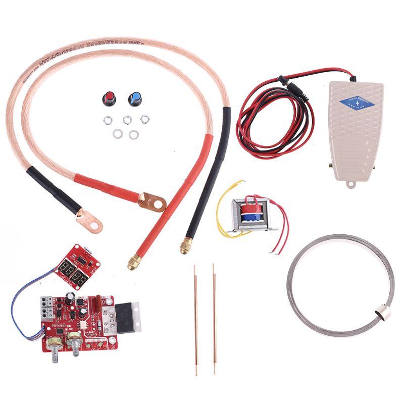 Spot Welder DIY Set 18650 Lithium Battery Spot Welding Machine Assembly Kit Control Board 16 Square Spot Welding Pen Foot Pedal