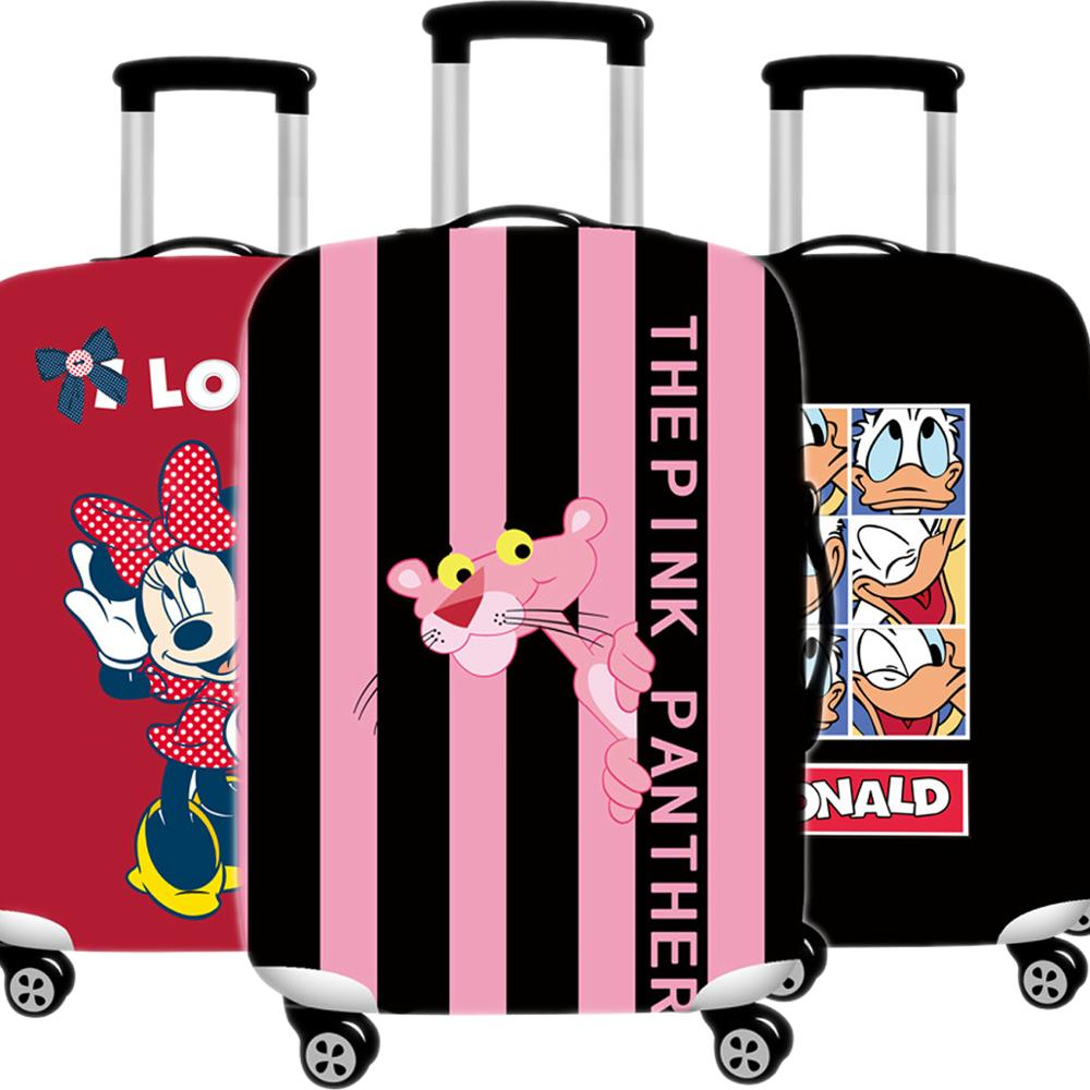 Kawaii Pink Panther Luggage Cover 3D  Protective Case Thicken Waterproof Elastic Suitcase Cover 18-32 Ince XL Travel Accessorie