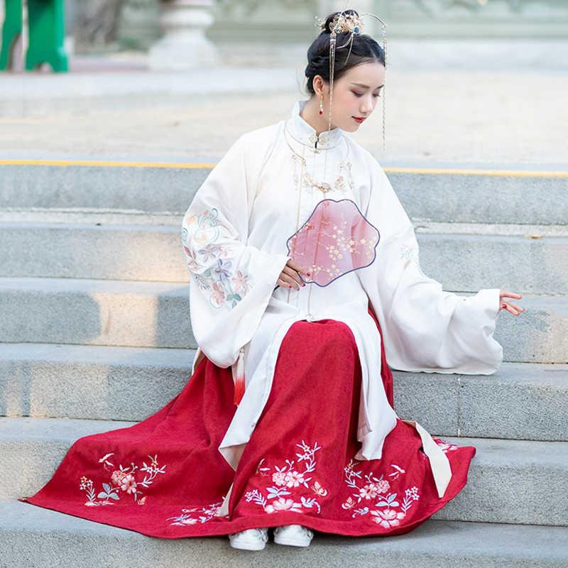 Khiêu Vũ Cổ Điển Trang Phục Hanfu Nữ Lễ Hội Truyền Thống Bộ Trang Phục Nữ Ca Sĩ Cuồng Hiệu Suất Quần Áo Nhà Minh Cổ Tích Đầm DF1391