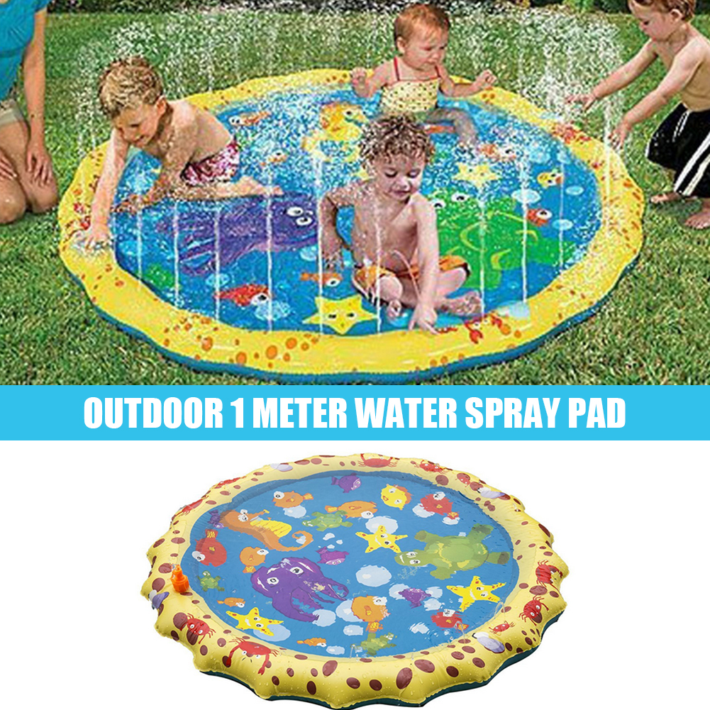 Baby Inflatable Water Play Mat PVC Infant Underwater Water Spray Pad Sprinkler Mattress Outdoor Lawn Beach Splash Play Mat Hot