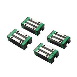 Image 5 - 2 sztuk HGR20 HGH20 kwadratowa prowadnica liniowa dowolna długość + 4 sztuk blokujący przesuwanie się wózka HGH20CA /Flang HGW20CC CNC części Router grawerowanie