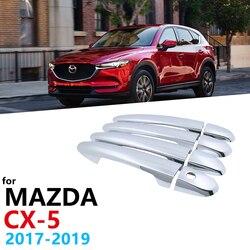 Chrome uchwyty pokrywa dla Mazda CX 5 CX5 CX-5 2017 2018 2019 złapać luksusowy samochód Cap uchwyt zewnętrzne akcesoria samochodowe naklejki