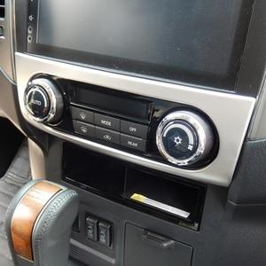 Centrale aria condizionata pannello di controllo cruscotto copertura decorativa per Mitsubishi Pajero IV V80 Shogun Montero Limitata Super Exceed(China)