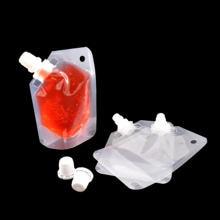 Os sacos de empacotamento do leite materno 50ml levantam-se malotes do bico da bebida eco-friendly sacos de armazenamento plásticos do suco de mylar (funil livre do presente)