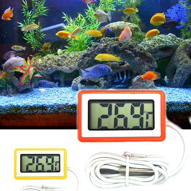 LCD Mini Indoor Temperatur Gauge Monitor Digital Aquarium <font><b>Thermometer</b></font> <font><b>Mit</b></font> <font><b>Sonde</b></font> <font><b>Thermometer</b></font> Hygrometer image