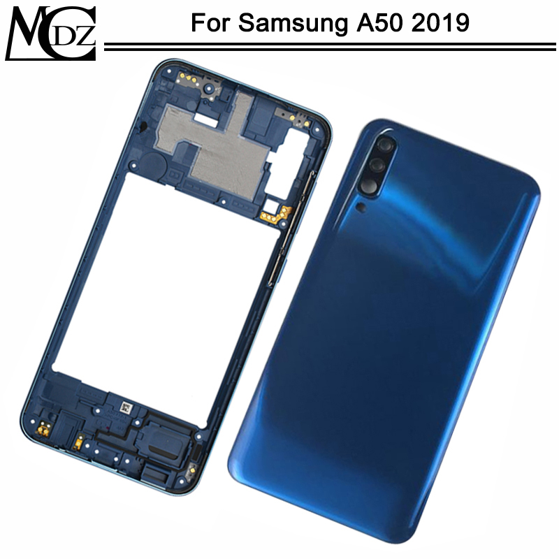 New For Samsung Galaxy A50 2019 A505 A505F A505DS Full Housing Middle Mid Frame Plate Bezel+ Battery Back Cover Case
