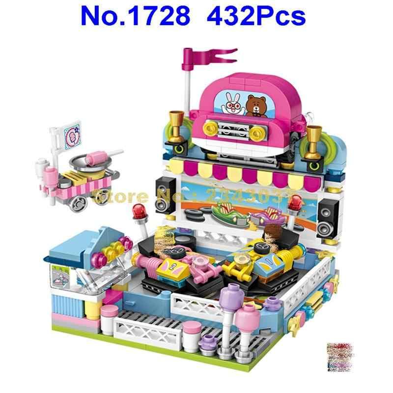 1728 432 шт парк развлечений уличный вид бампер автомобиль мини Алмаз строительные
