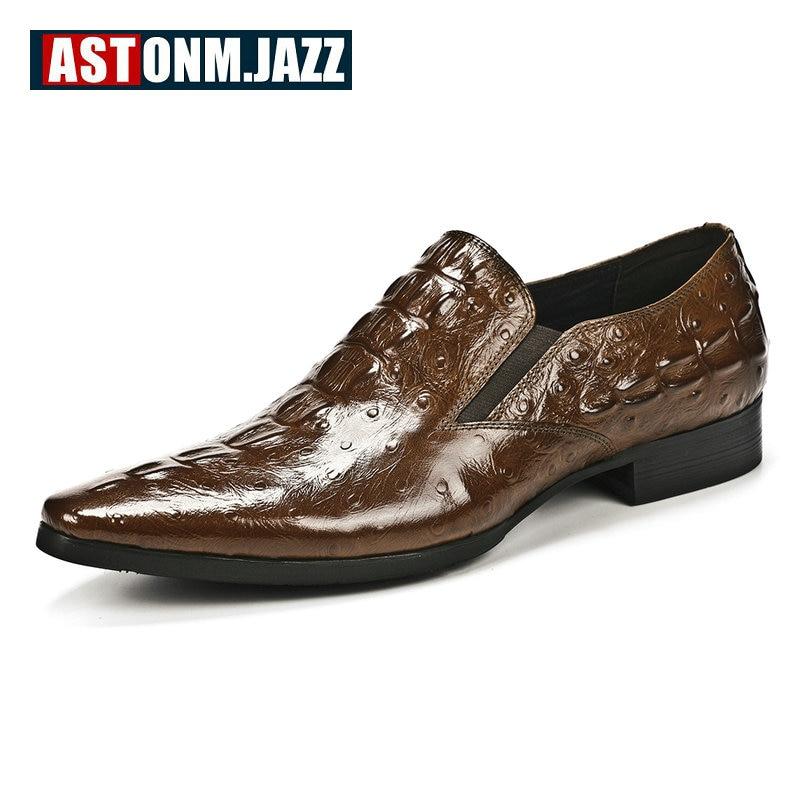 Casual Men Shoes Leather Boat Shoe Slip On Mocassins Men Loafers Shoes Genuine Leather Emboss Crocodile Dress Shoe Big Size 46
