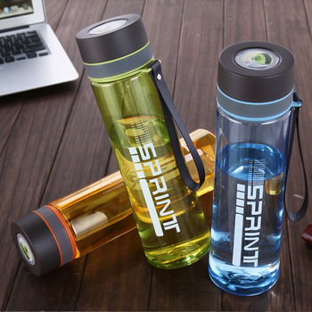 Insulated Bottle Shaker Water Plastic Sport 600ml/800ml/1000ml Large And Small Double Caliber image