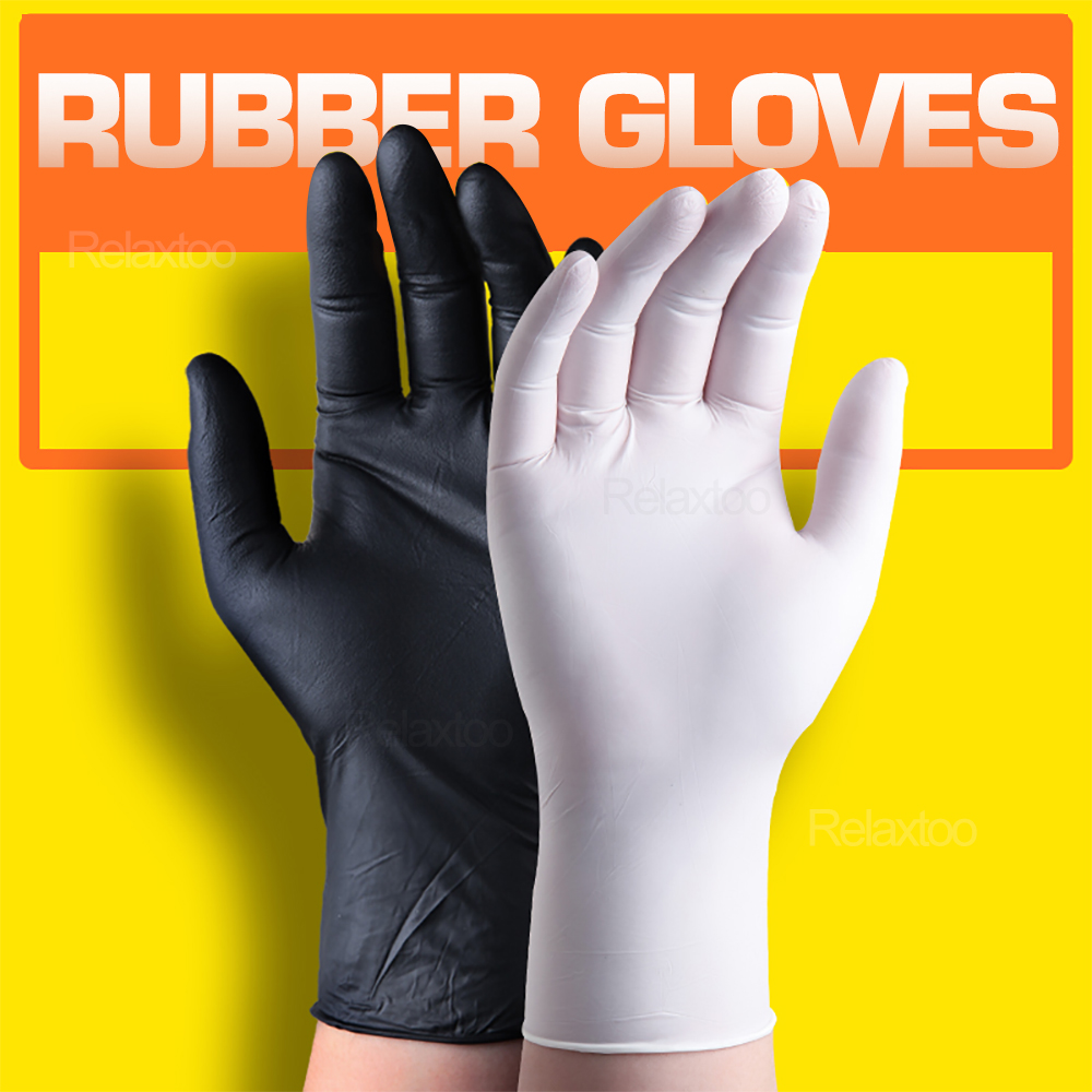 100/50 Pcs Disposable Latex Gloves Protective Non-Slip Gloves Acid Alkali Laboratory Rubber Gloves Household Cleaning Products