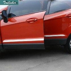 Tonlinker 4 sztuk samochód DIY stylizacja podstawa światła ochrona na nadwozie listwa oświetleniowa pokrywa naklejki dla Ford Ecosport 2013 2014 akcesoria