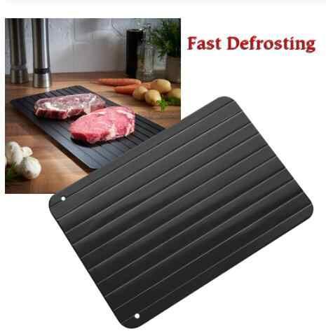 DF950 Rápido Degelo Bandeja De Carne Chopping Board Placa de Corte Bandeja Descongelamento de Segurança Rápida torneira da Cozinha Pad Desembaçador de Alimentos Congelados