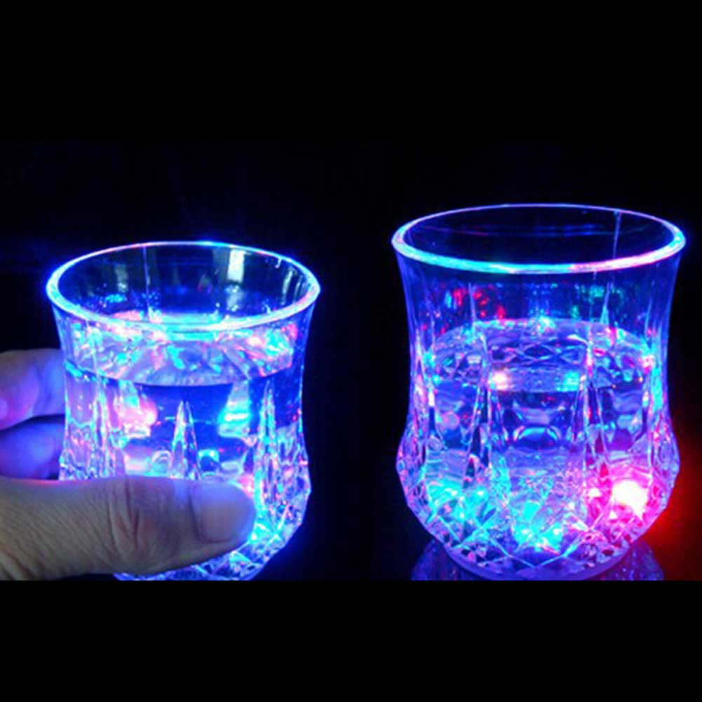 Glowing Acrylic Light Cup Water Activated Holiday Party Creative Gifts Discolored Night Club Bar High Quality Beer Light Cups