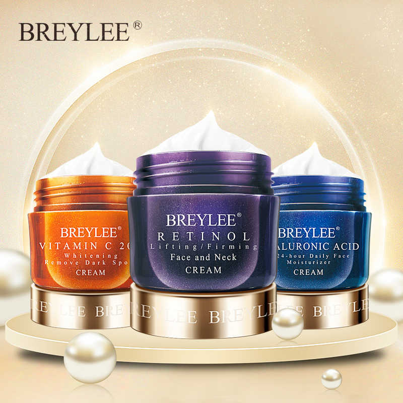 BREYLEE Face ครีม Hyaluronic Acid Moisturizing DAY CREAM Retinol Anti Wrinkle Vitamin C Whitening Skin Care สิว 40g