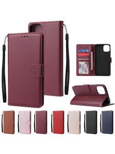 Роскошный чехол-кошелек из искусственной кожи с откидной крышкой и отделениями для карт для iPhone 12 11 Pro Xs Max XR X 8 7 6 6s Plus 5 5S SE 2020, чехол Coque