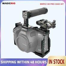 عدة قفص برو magicrigbmpcc 6K مع مقبض علوي و T5 SSD للكاميرا السينيمية الجيب بتصميم بلاكماجيك 6K Pro