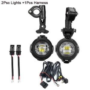 Image 3 - FADUIES Foco de luz de conducción LED auxiliar E9, 2 uds., protector 2Psc + cableado de interruptor 1Psc para motocicleta BMW R1200GS F800GS