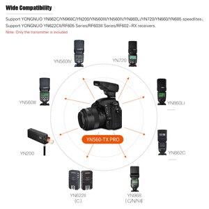 Image 2 - YONGNUO YN560 TX PRO 2.4G On camera Flash Trigger Wireless Transmitter for Canon DSLR Camera YN862/YN968/YN200/YN560 Speedlite
