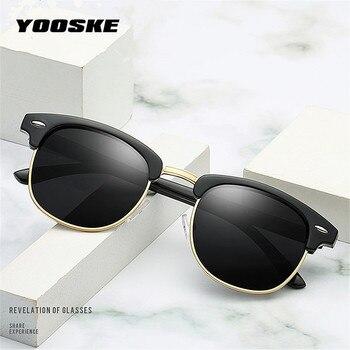 YOOSKE Retro Polarized Sunglasses  1