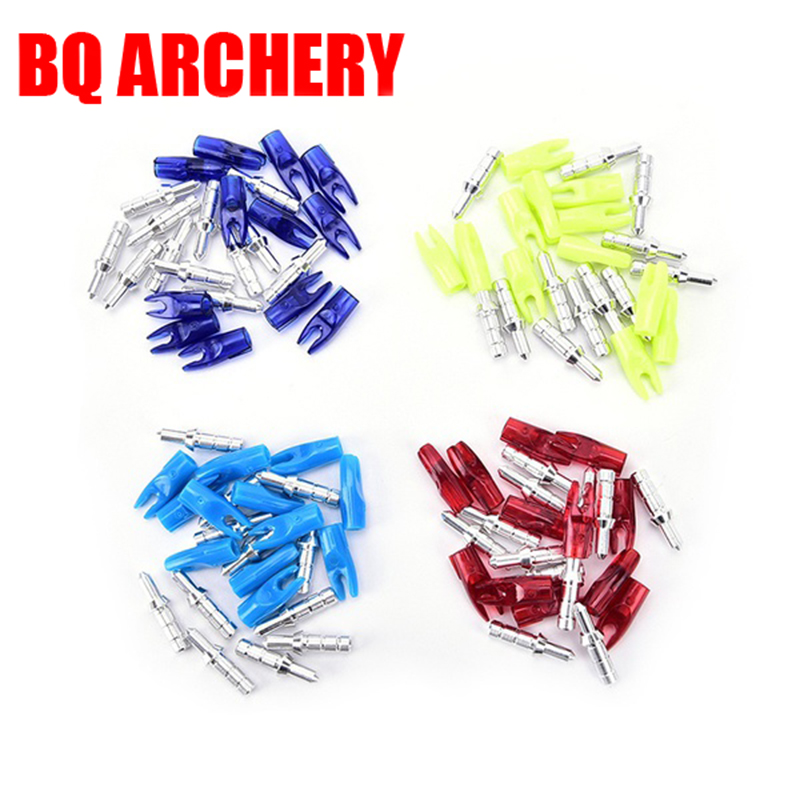 50Pcs Archery Arrow Nocks Pin Nock ID3.2mm DIY Accessories For Compound Recurve Bow Crossbow Hunting Shooting Outdoor