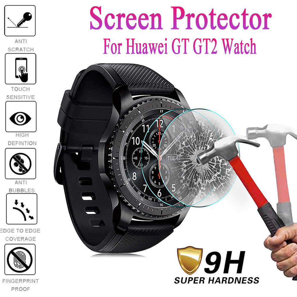 New Arrival 46MM/42MM Smart Watch Tempered Glass For Huawei GT GT2 Watch New HD Tempered Glass Screen Protector Film