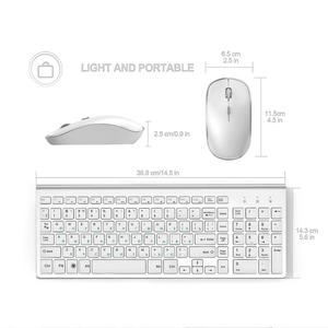 Image 3 - JOYACCESS الفضة لوحة مفاتيح روسية الماوس مجموعة لاسلكية مريحة Mause الأعمال رقيقة لوحة مفاتيح وماوس الماوس الصامت للمكتب