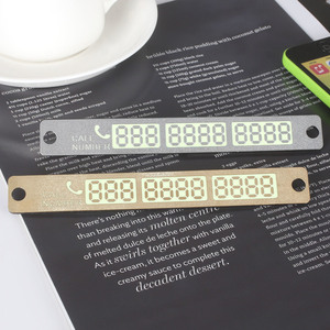 15*2cm Phone Number Notification Car Temporary Parking Card Suckers Luminous Car Sticker Interior Accessories