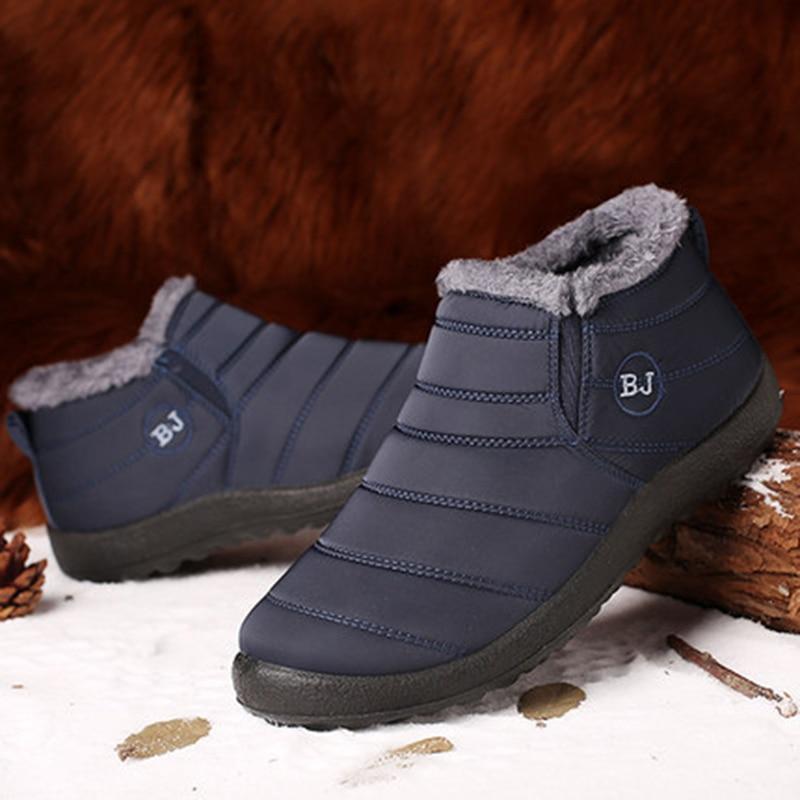 Зимняя обувь для мужчин; Ботинки без шнуровки; Теплые зимние кроссовки на меху; Мужские зимние ботинки; Водонепроницаемые ботильоны; Chaussure ...