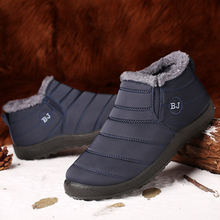 Winter Shoes For Men Boots Slip On Warm Fur Winter Sneakers Men Snow Boots Water