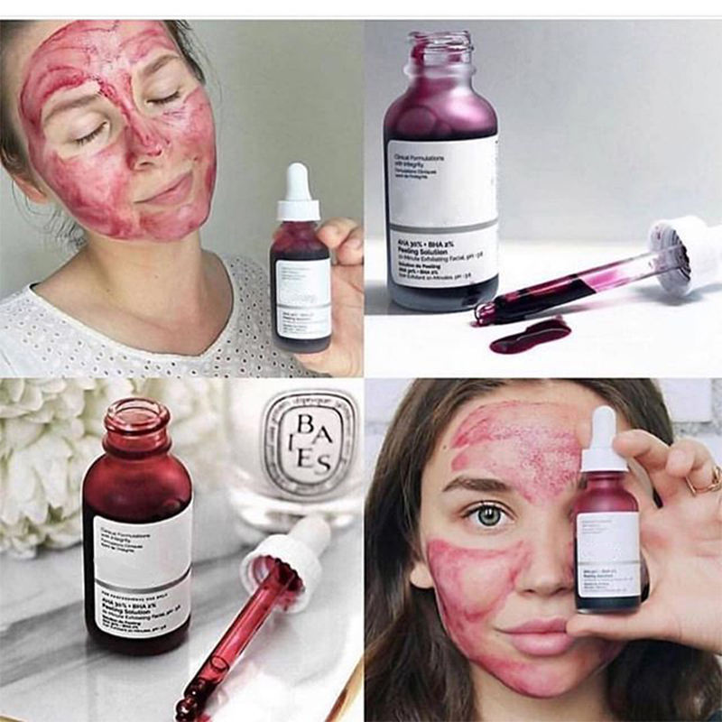 Face Serum 10-Minute Exfoliating Face The Ordinary AHA 30%+ BHA 2% Peeling Solution 30ml Blemishes Remove Acne Scars Whitening