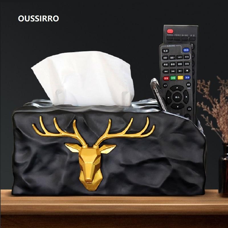 Oussirro 2019 New European Style Luxury Tissue Box Fashion Elegant