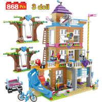 868 pçs blocos de construção meninas amizade casa empilhamento tijolos compatíveis legoinglys meninas amigos crianças brinquedos para crianças gb08