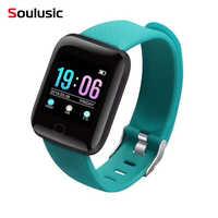 Soulusic D13 Braccialetto Intelligente Per Android iPhone IP67 Impermeabile Astuto della vigilanza di Frequenza Cardiaca Tracker Misuratore di Pressione Sanguigna 116 Più Wirstbands