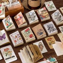 80 sztuk/książka Vintage Time projektor serii Kraft papierowy notes do robienia notatek pamiętnik stacjonarne płatki księga gości dekoracyjne Retro materiał książki