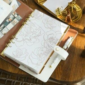 Fromthenon Folie Gold Index Seiten Kunststoff Abgedeckt Teiler A5a6a7 Planer Refill Lesezeichen für Lovedoki Notebook nette Schreibwaren