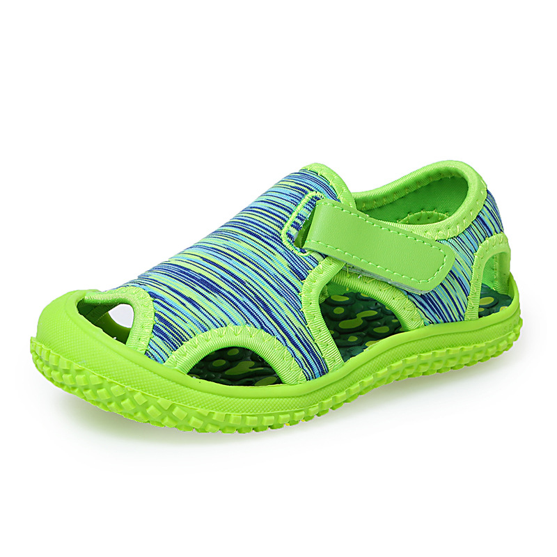 2020 Children's Sandals Boys Beach Sandals Solid Bottom Soft Wear Non-slip Girls Baby Toddler Girl Sandals Kids Barefoot Shoes