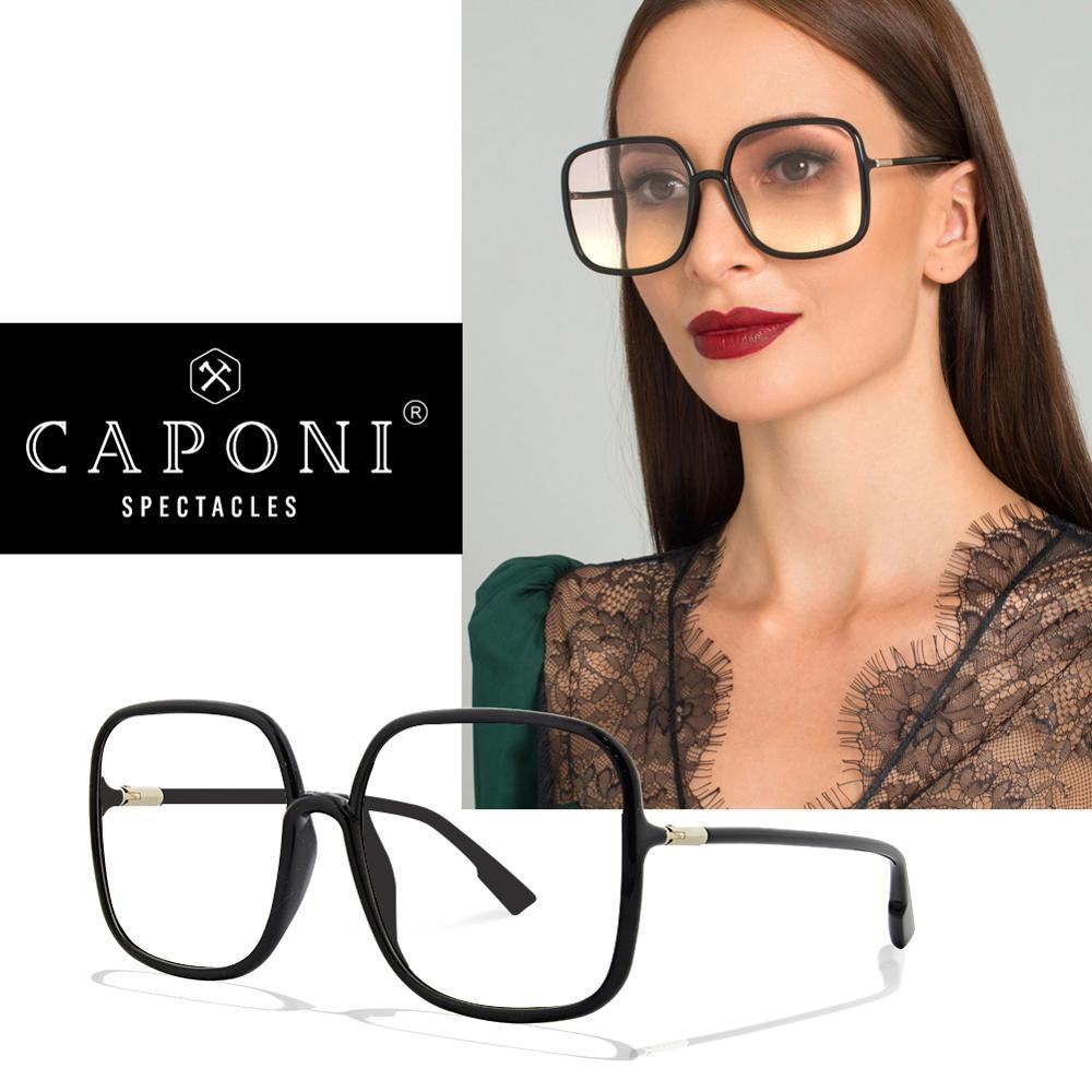 CAPONI 2020 New Oversize EyeGlasses Frame For Women Luxury Design Brand Female Glasses Ultralight Popular Elegant Eyewear J60128