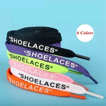 1 Pair Braided Letter printing Shoe laces Flat Shoelaces Outdoor Leisure Sneakers women Shoes lace Child Adult Unisex Shoelace